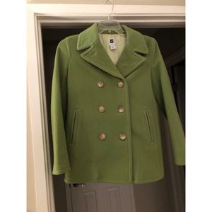 Green Gap pea coat